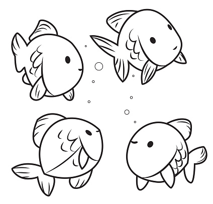 Black And White, Cute Fishes