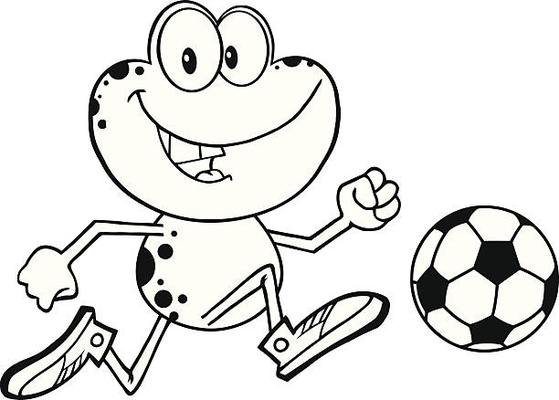 Frog Clipart Black And White Illustrations, Royalty-Free ...