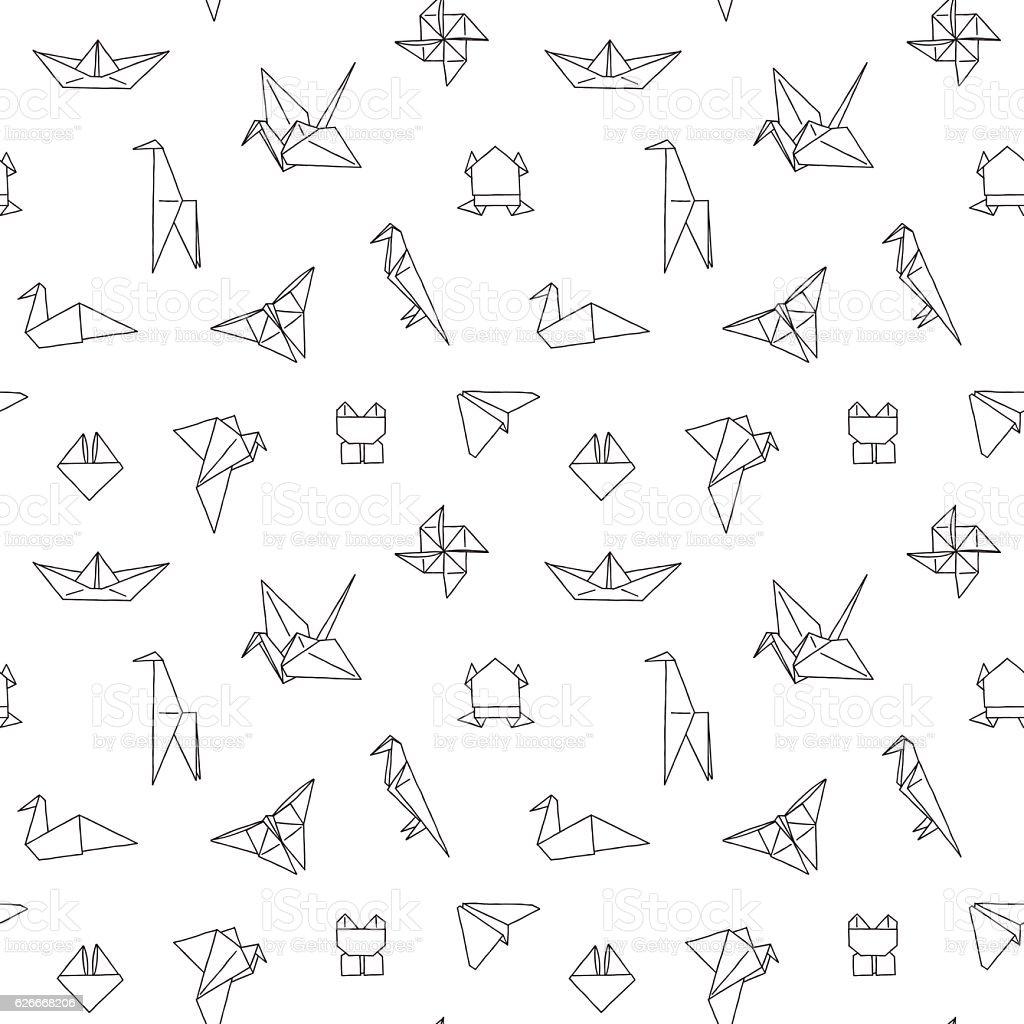 Black and White Cute Kids Seamless Pattern vector art illustration