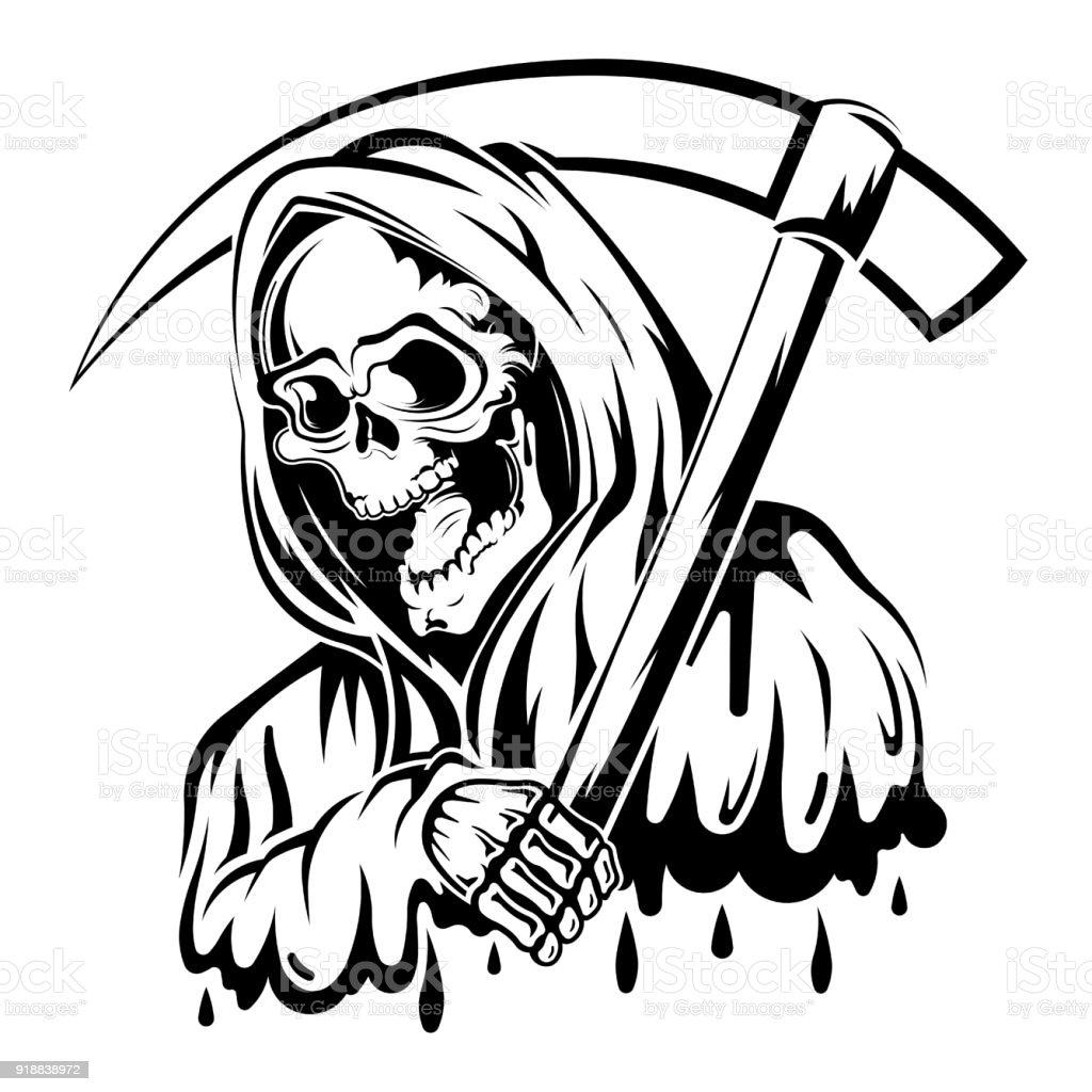 Black and white death stock illustration download image