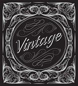 Black and white decorative vintage design