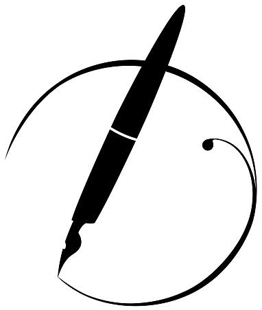 black and white  design  fountain pen
