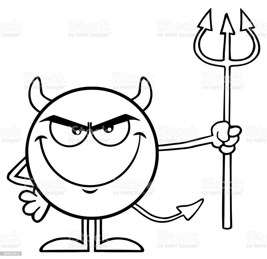 Teufel zeichnung schwarz weiß