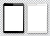 Vector Black and White Digital Tablet