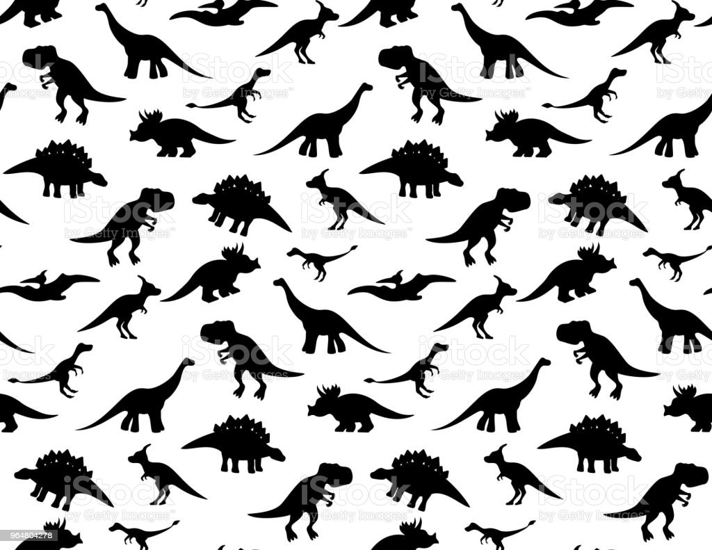 Black and white dino pattern royalty-free black and white dino pattern stock vector art & more images of ancient