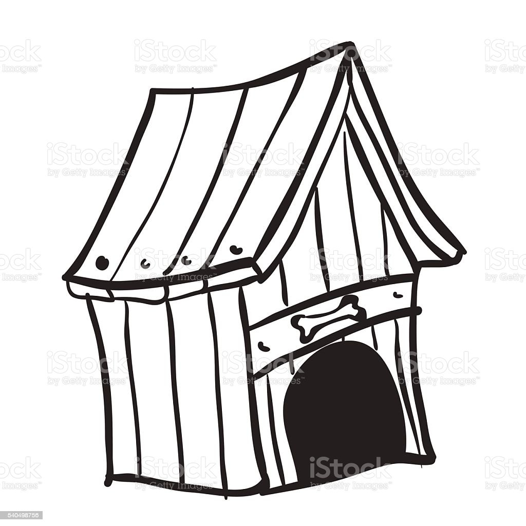Black And White Dog House Stock Vector Art & More Images ...