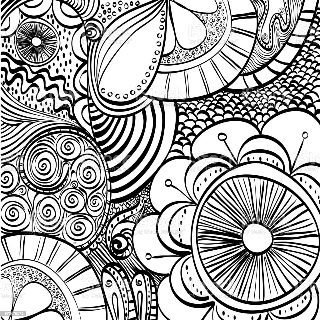 Black and white draw design abstract vector illustration