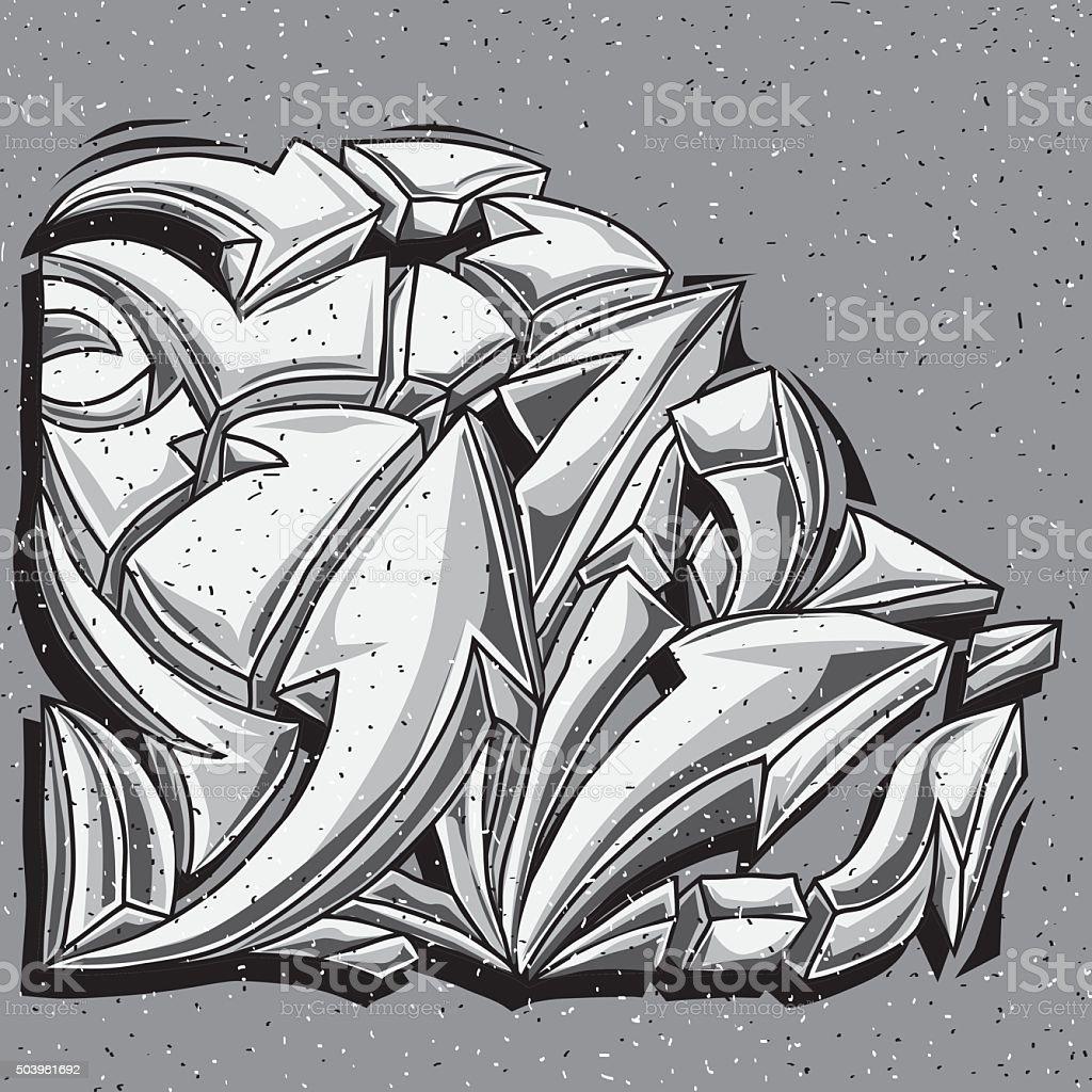Schwarze Und Weisse Graffitipfeile Zeichnen Stock Vektor Art Und Mehr