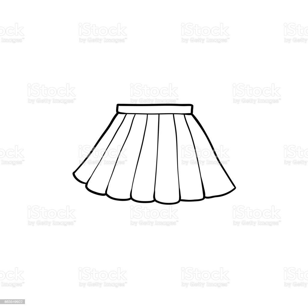 Skirt Clipart Black And White
