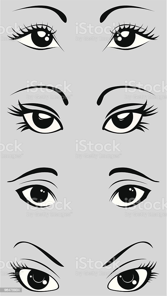 black and white eyes royalty-free black and white eyes stock vector art & more images of beauty
