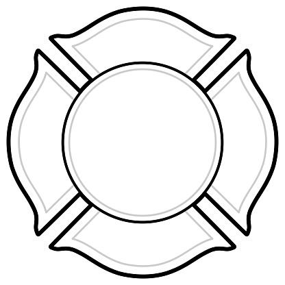 Black And White Firefighter Logo