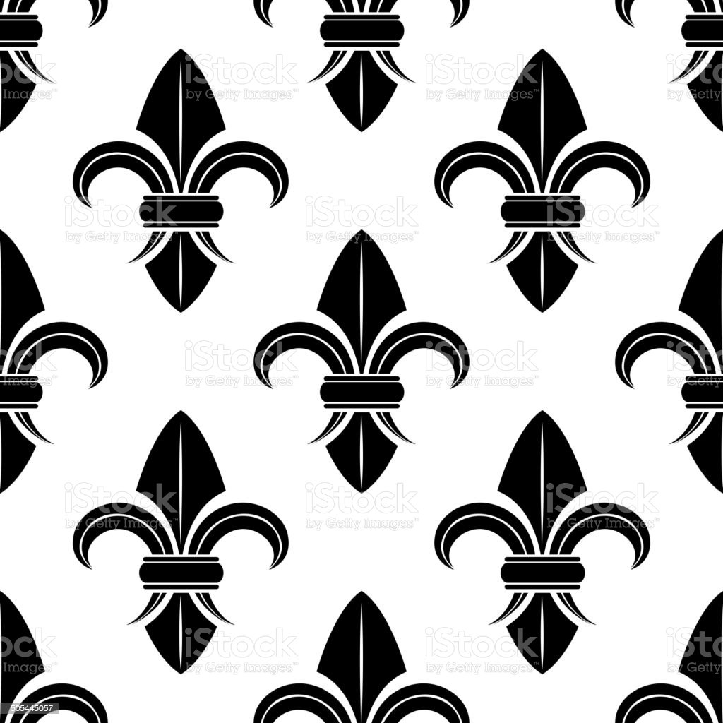 black and white fleur de lys pattern stock vector art more images