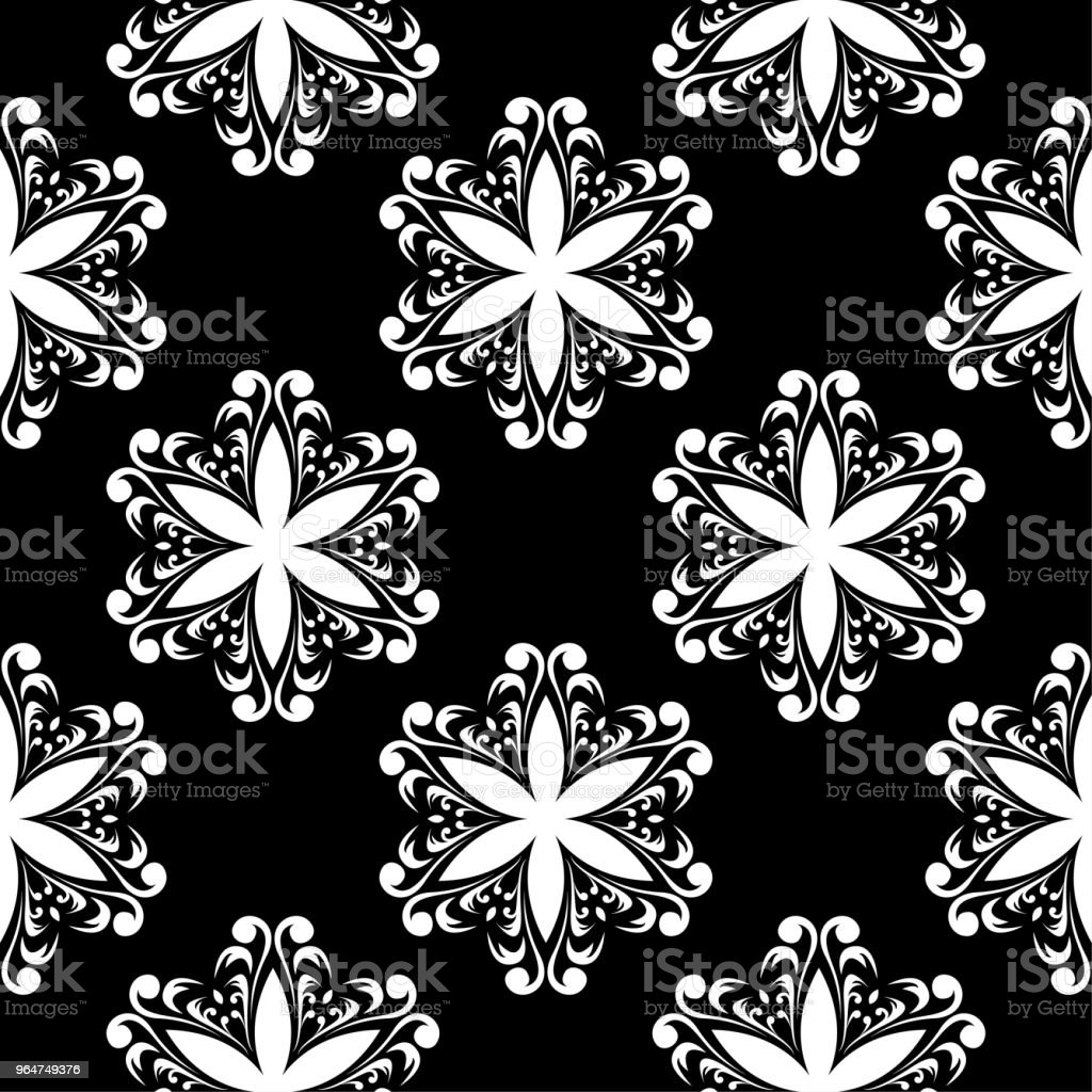 Black and white floral ornament. Seamless pattern royalty-free black and white floral ornament seamless pattern stock vector art & more images of abstract