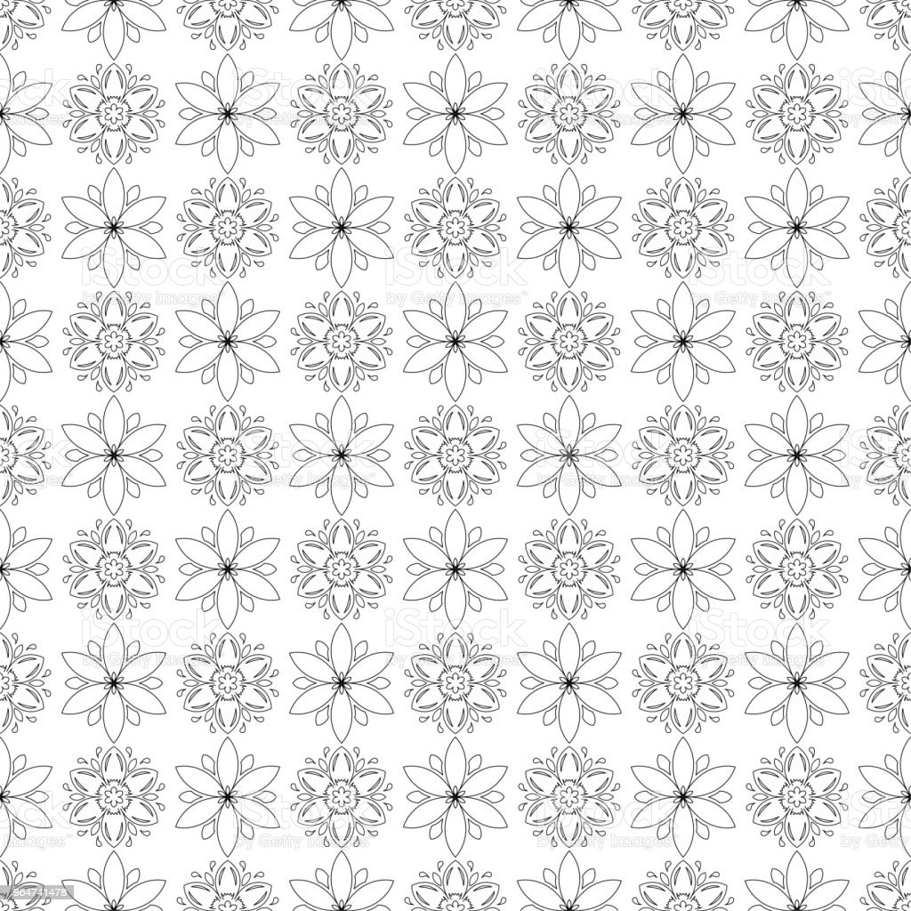Black and white floral ornaments. Seamless pattern royalty-free black and white floral ornaments seamless pattern stock vector art & more images of abstract