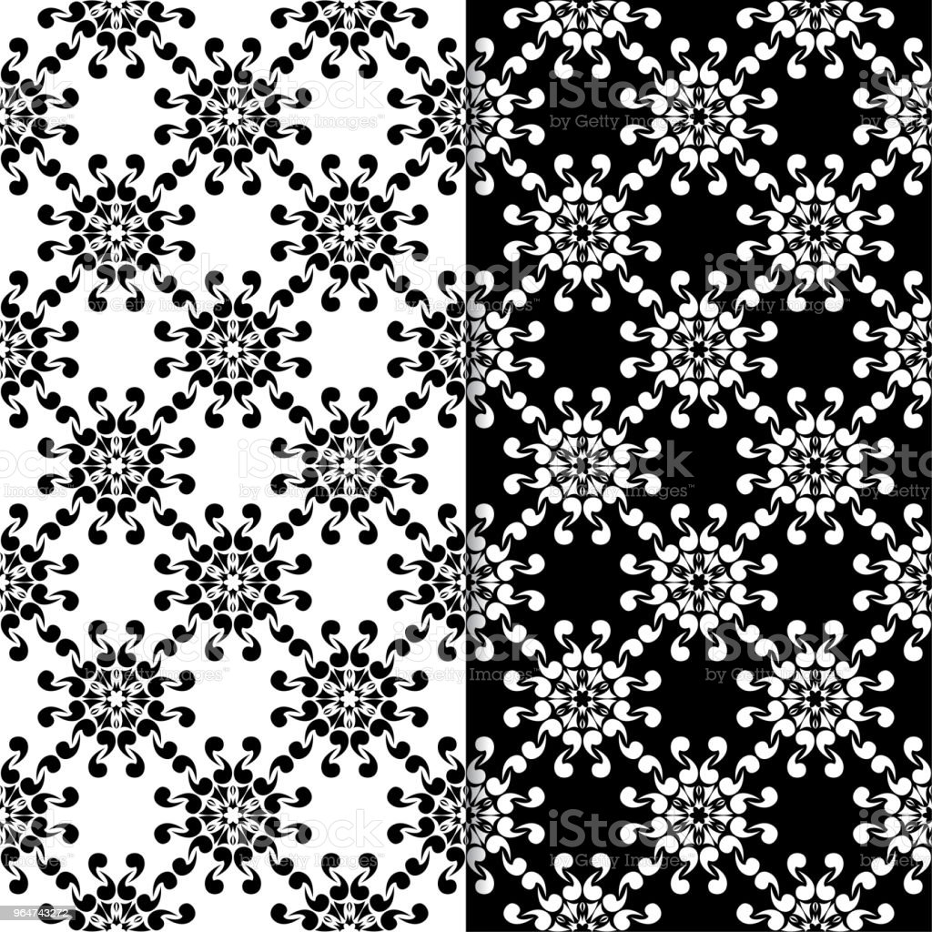 Black and white floral ornaments. Set of seamless backgrounds royalty-free black and white floral ornaments set of seamless backgrounds stock vector art & more images of abstract