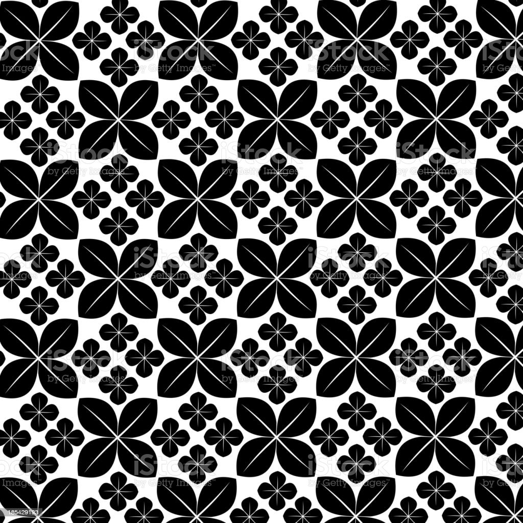 black and white floral pattern background royalty-free black and white floral pattern background stock vector art & more images of abstract