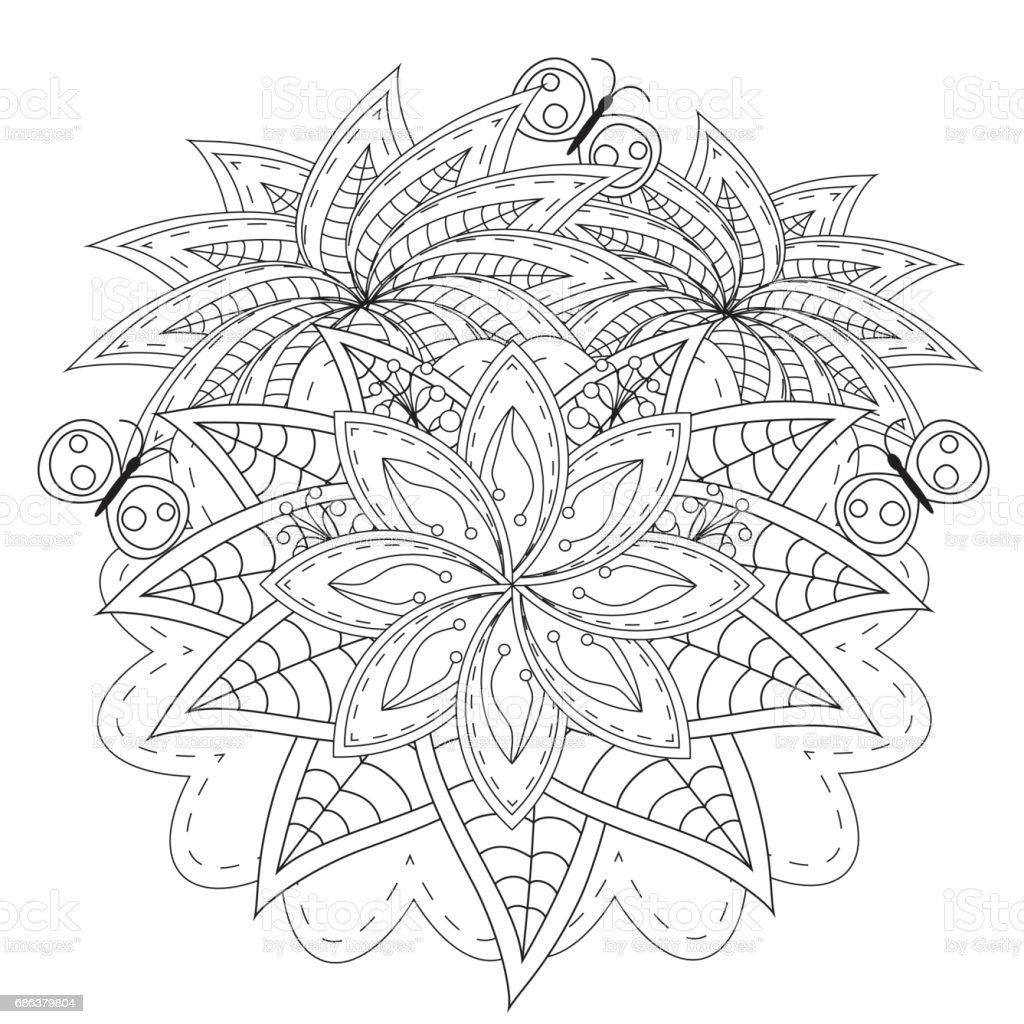 Vector elements for design. Good for art therapy, meditation and...