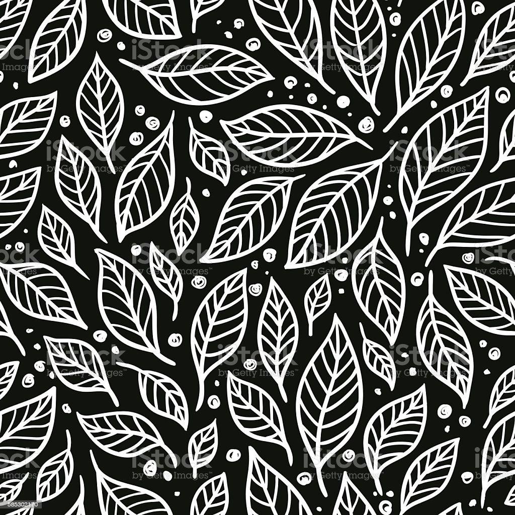 5e2032bdb671 Estampa floral preto e branco. vetores de estampa floral preto e branco e  mais imagens
