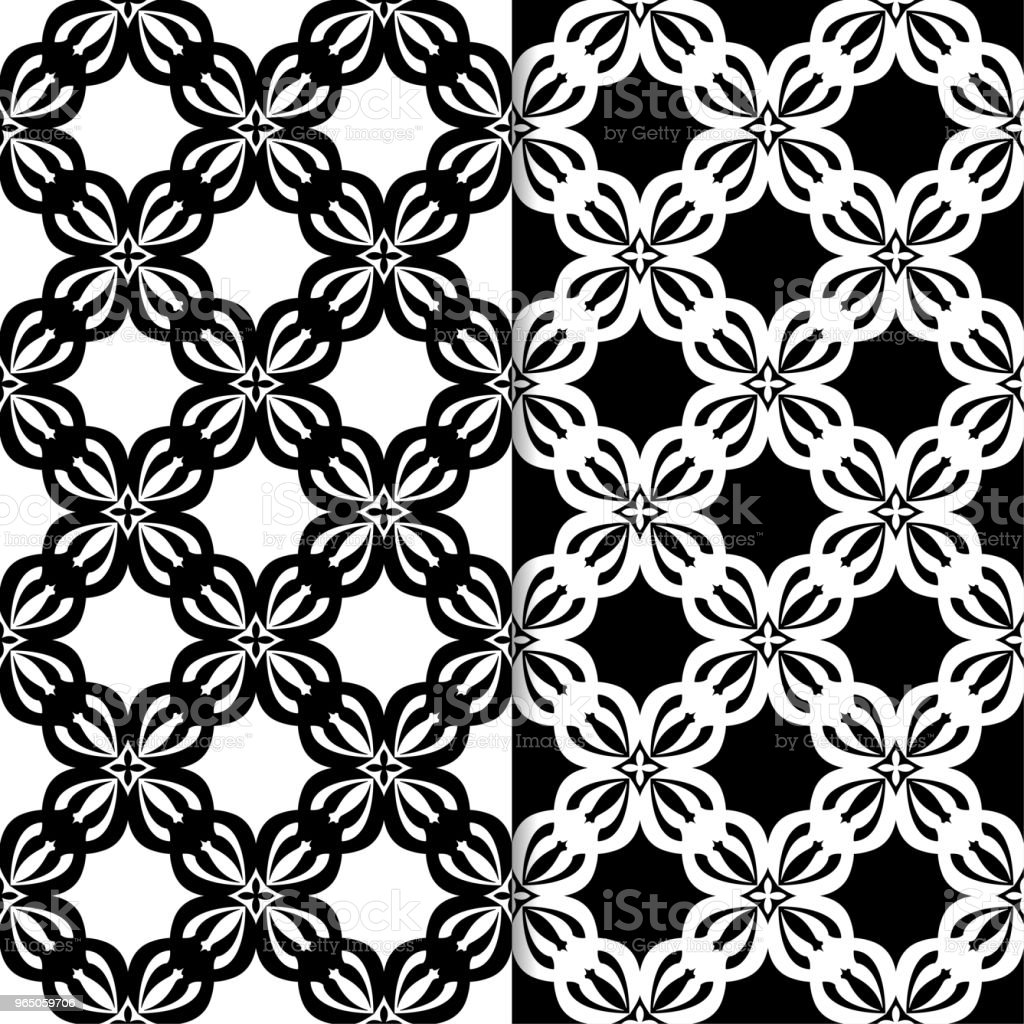 Black and white floral seamless patterns. Set of backgrounds royalty-free black and white floral seamless patterns set of backgrounds stock vector art & more images of abstract