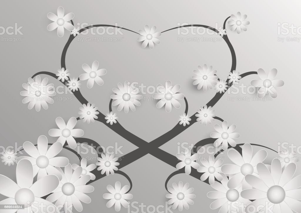 Black And White Flower Background Stock Vector Art More Images Of