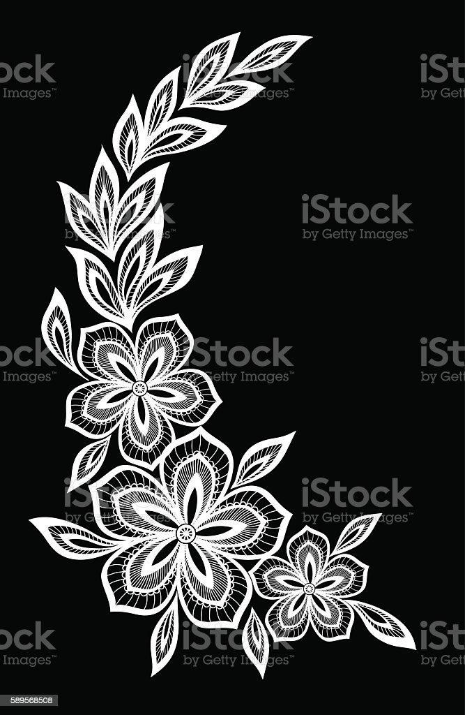 Black and white flowers and leaves isolated stok vektr sanat black and white flowers and leaves isolated royalty free black and white flowers and mightylinksfo