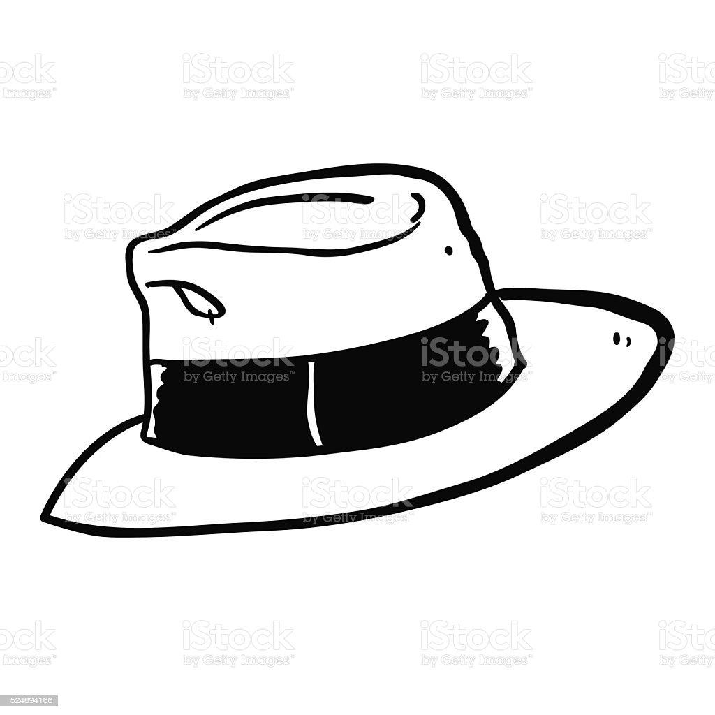 Dibujo Animado En Blanco Y Negro Dibujado A Mano Alzada
