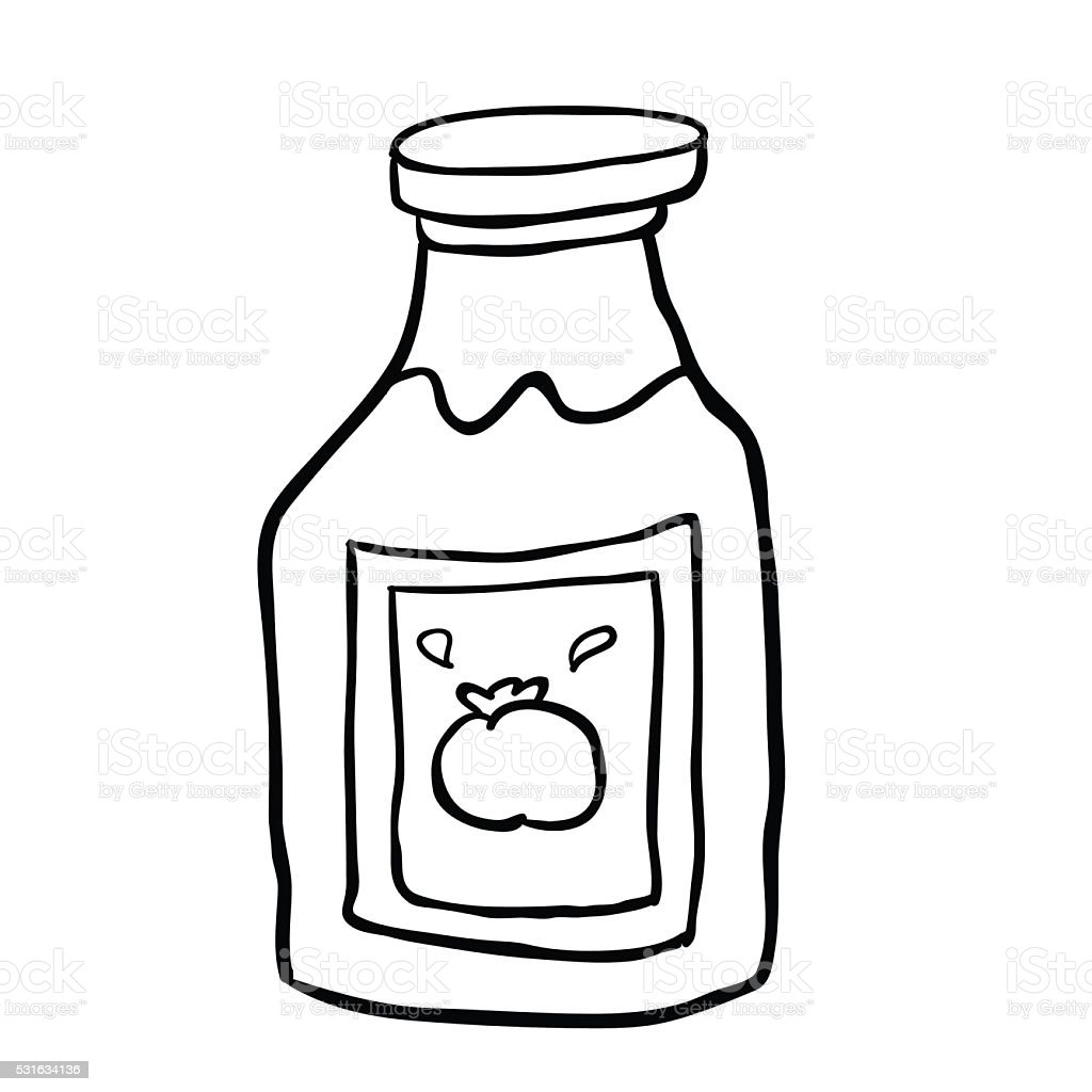 how to draw a ketchup bottle