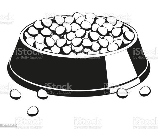 Black and white full pet food bowl silhouette vector id957875520?b=1&k=6&m=957875520&s=612x612&h=86wdlecpd6gnccmz4nc9yncjjrovd1ldv8uepk5 scm=