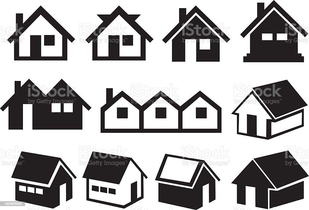 High Quality Schwarze Und Weiße Hoher Dach Haus Symbol Mit Lizenzfreies Schwarze Und  Weiße Hoher Dach Haussymbol