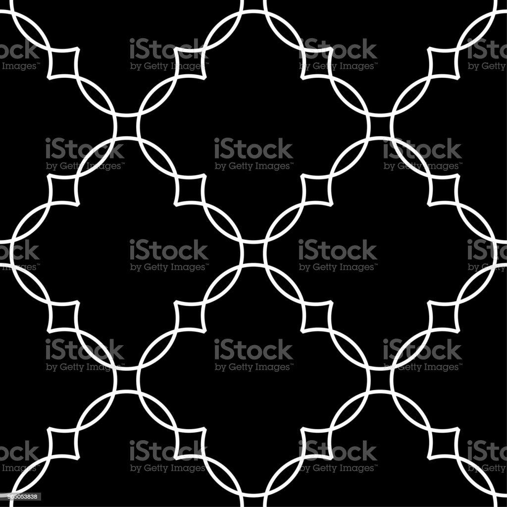 Black and white geometric ornament. Seamless pattern black and white geometric ornament seamless pattern - stockowe grafiki wektorowe i więcej obrazów abstrakcja royalty-free