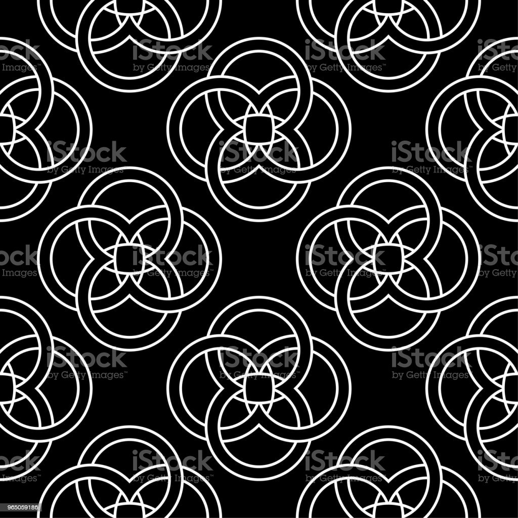 Black and white geometric ornament. Seamless pattern black and white geometric ornament seamless pattern - stockowe grafiki wektorowe i więcej obrazów abstrakcja royalty-free