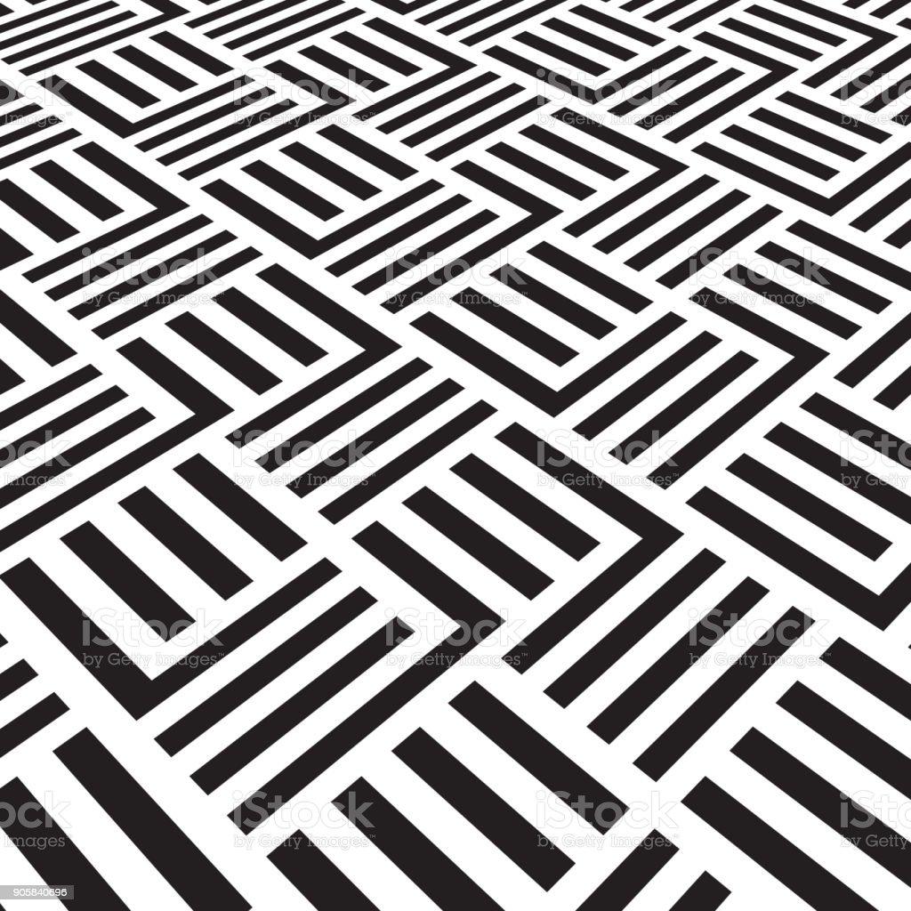 Vetores De Preto E Branco Padrao Geometrico Com Listras Papel De