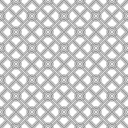 Black And White Geometric Seamless Design - Arte vetorial de stock e mais imagens de Abstrato