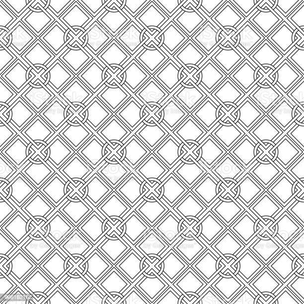 Zwartwit Geometrisch Naadloze Ontwerp Stockvectorkunst en meer beelden van Abstract