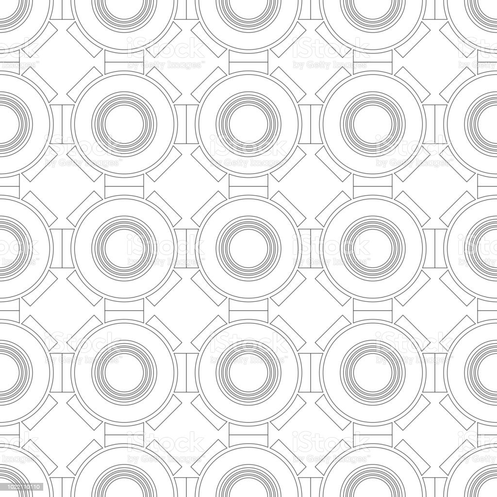Black And White Geometric Seamless Pattern For Coloring Book Page ...
