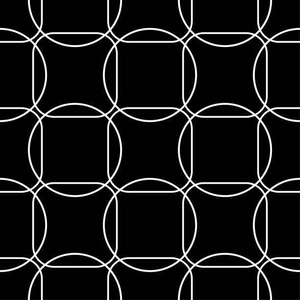 Bекторная иллюстрация Black and white geometric seamless pattern