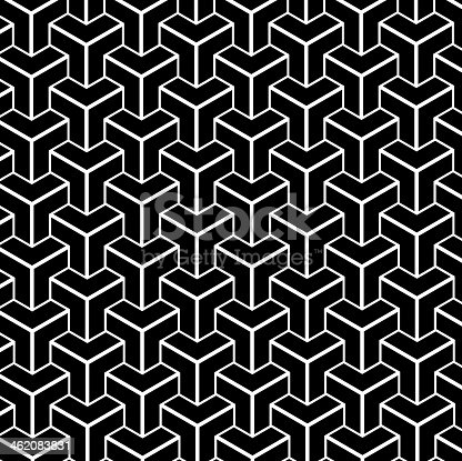 black and white abstract geometry shape background