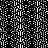 A black and white geometric shaped background