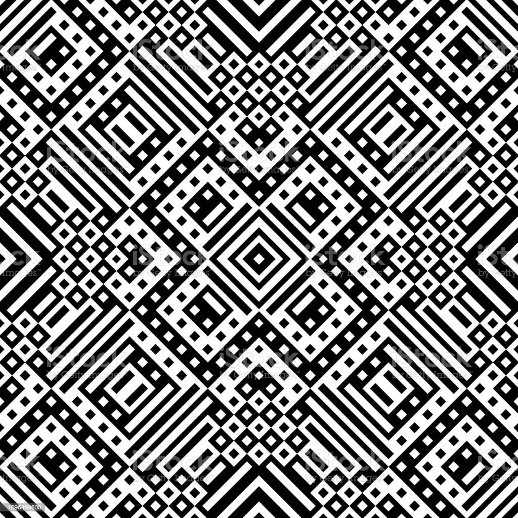 Black And White Geometric Shapes Wallpaper Pattern Background стоковая векторная графика и другие изображения на тему абстрактный