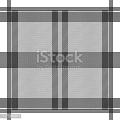istock Black and white geometric striped headscarf pattern 1177267977