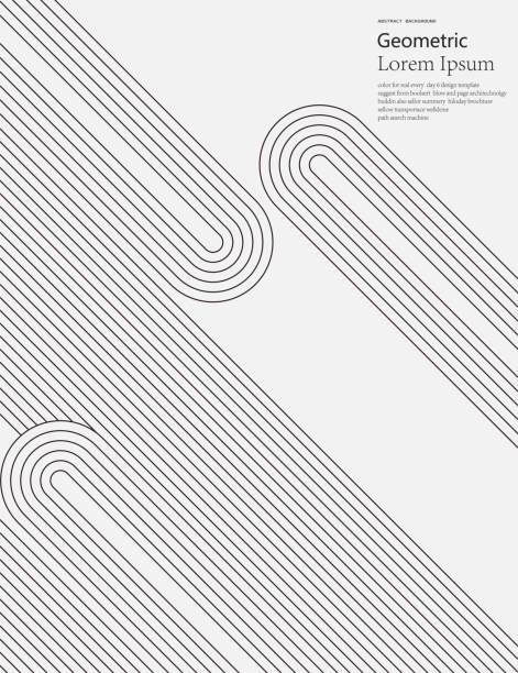 czarno-białe geometryczne tło wzoru linii stylu - linia stock illustrations
