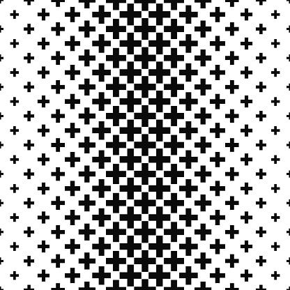Black and white greek cross pattern background