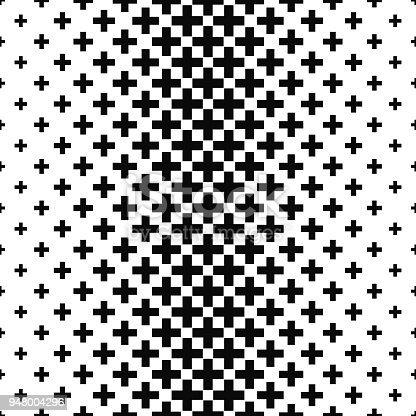 Black and white greek cross pattern design background