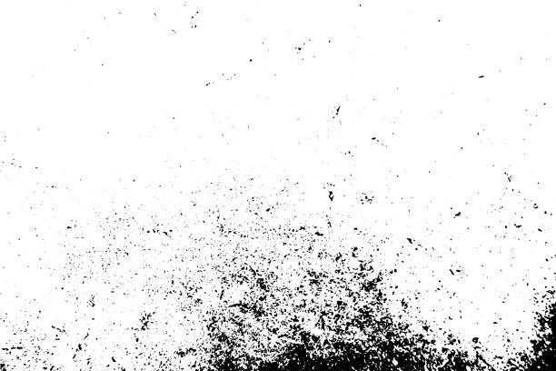 Schwarz-Weiß grunge urbanen Texturvektor mit Kopierraum. Abstrakte Abbildung von Oberflächenstaub und rauer, schmutziger Wandhintergrund mit leerer Schablone. Verspannungs-oder Schmutz-und Schadenseffekt-Konzept-Vektor – Vektorgrafik