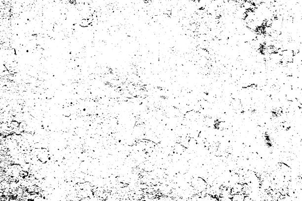 illustrazioni stock, clip art, cartoni animati e icone di tendenza di black and white grunge urban texture vector with copy space. abstract illustration surface dust and rough dirty wall background with empty template. distress or dirt and damage effect concept - vector - texture effetti fotografici
