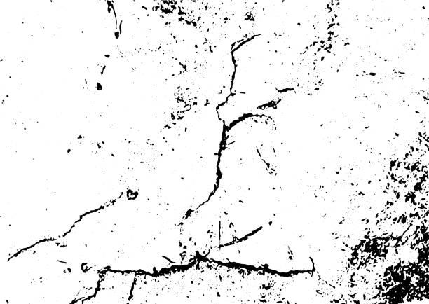 Schwarz und weiß Grunge urban Textur Vektor mit Kopierraum. Abstrakte Illustration Oberflächenstaub und raue schmutzige Wandhintergrund mit leeren Vorlage. Distress- oder Schmutz- und Schadenseffektkonzept - Vektor – Vektorgrafik
