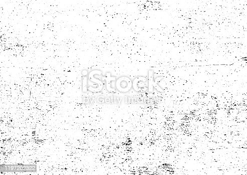 istock Black and white grunge urban texture vector with copy space. Abstract illustration surface dust and rough dirty wall background with empty template. Distress or dirt and damage effect concept - vector 1197202322