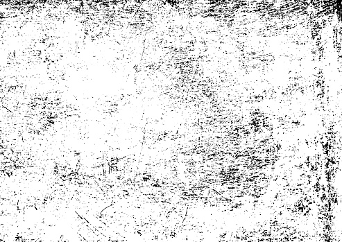 Black and white grunge urban texture vector with copy space. Abstract illustration surface dust and rough dirty wall background with empty template. Distress or dirt and damage effect concept - vector