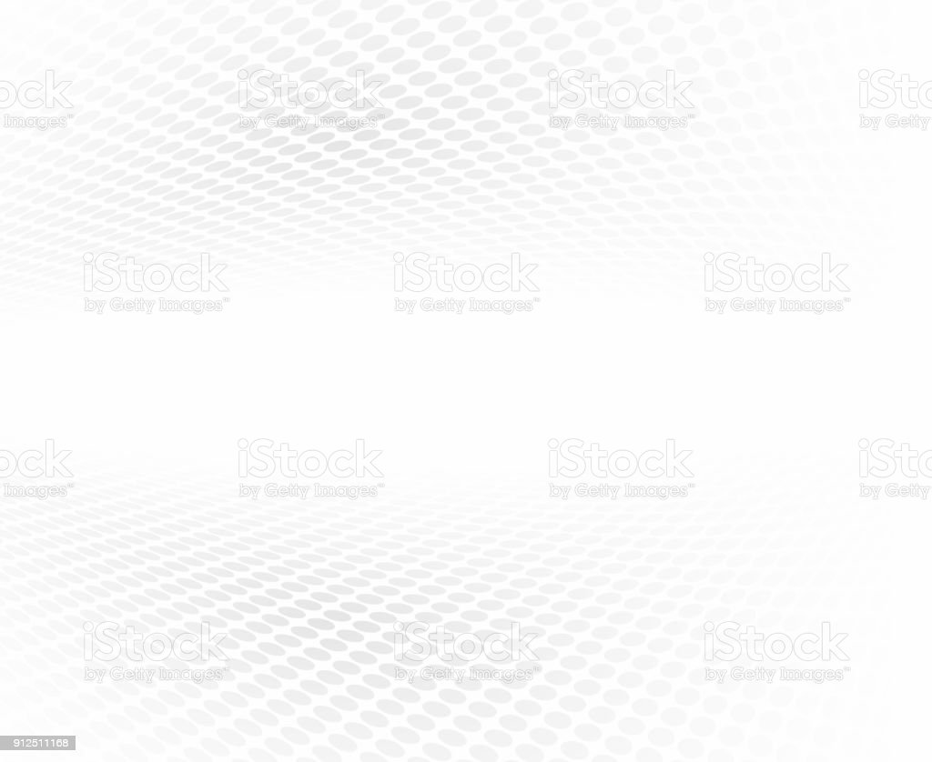 Black and white halftone perspective background. vector art illustration