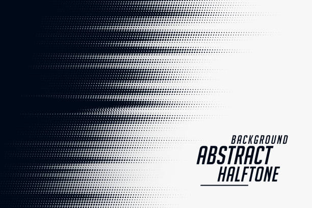 czarno-białe tło wzoru prędkości półtonów - ruch stock illustrations